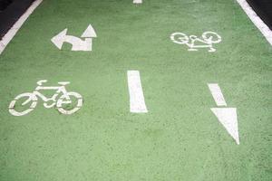 detalle del carril bici foto