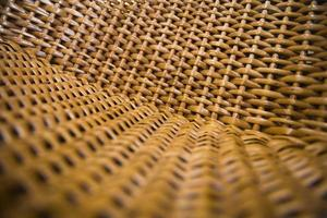 Close-up detail of the wicker chair photo