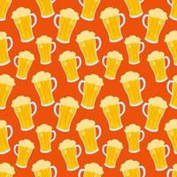beer in glass seamless pattern illustration background vector