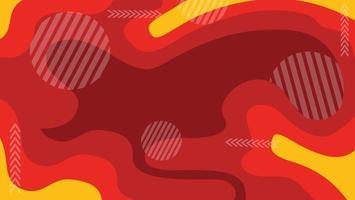 fondo rojo abstracto moderno vector