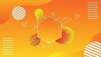 Nuevo fondo abstracto del pentágono moderno vector