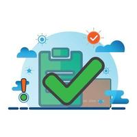 checkmark illustration. Flat vector icon