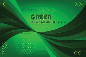 green abstract wave card banner background vector