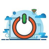 power illustration. Flat vector icon