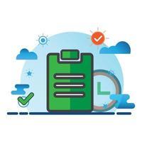 task illustration. Flat vector icon