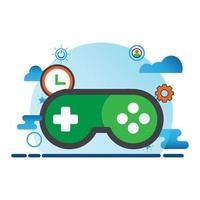 game illustration. Flat vector icon. can use for, icon design element,ui, web, mobile app.