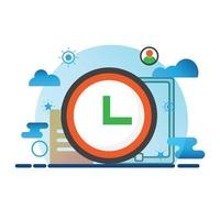 time illustration. Flat vector icon. can use for, icon design element,ui, web, mobile app.