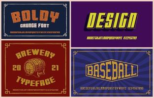 Vintage fonts bundle, these fonts work well for short phrases and headlines. vector