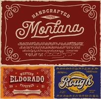 Vintage fonts bundle, this set with fonts is perfect for short phrases or headlines and can be used for many creative products such as alcohol labels, emblems, posters, and many others vector