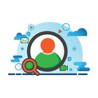 user, people illustration. Flat vector icon. can use for, icon design element,ui, web, mobile app.