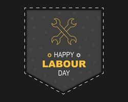Happy Labour Day With Pocket Vector