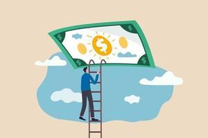escalera del éxito en el concepto de libertad financiera vector