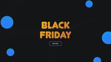 Animations-Intro-Text schwarzer Freitag auf schwarzem Mode- und Minimalismushintergrund mit geometrischem Kreis video