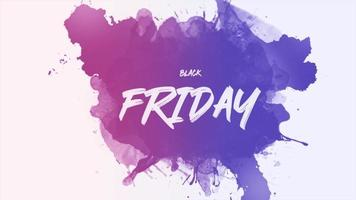 animação intro text black friday sobre moda colorida e fundo splash