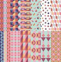 Geometric patterns collection vector