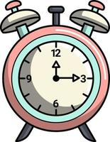 simple cute table clock perfect for design project vector