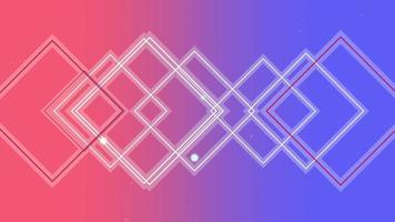 Animación abstracta neón líneas rojas y azules, fondo de discoteca de movimiento video