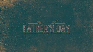 animatie tekst vaders dag op hipster en grunge achtergrond met bliksemschichten