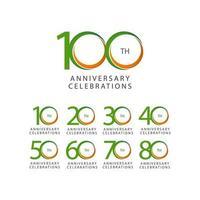 100 Th Anniversary Celebration Retro Vector Template Design Illustration