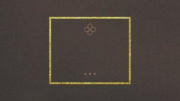 forma geométrica abstrata de ouro e luxo com moldura, fundo retrô