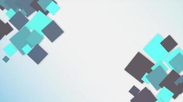 movimento introdução geométrica quadrados azuis, fundo abstrato