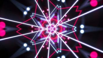 rörelse färgglada neon geometrisk form i rymden, abstrakt bakgrund