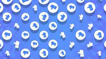 movimento como ícones em fundo de rede simples video