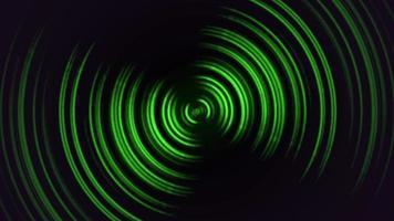 abstrakta rörelse gröna linjer med buller i 80-talsstil, looping animation retro