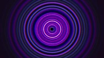 movimento abstrato linhas espirais roxas no estilo dos anos 80, retro animação em loop video