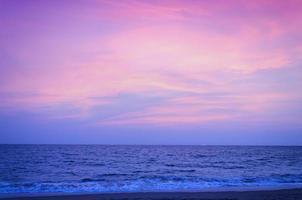 Sunset on a beach photo