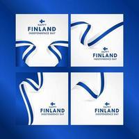 Happy Finland Independence Day Celebration Vector Template Design Illustration