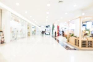 Fondo de centro comercial desenfocado abstracto foto