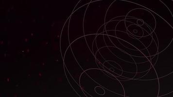 mouvement forme géométrique avec des particules dans l'espace, fond abstrait video