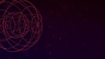 mouvement forme géométrique abstraite avec des particules dans l'espace, fond de galaxie. video