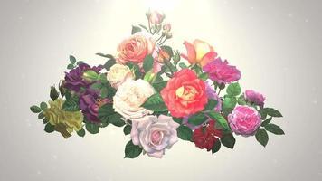 närbild blommor, rörelse bröllop bakgrund