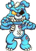 Cartoon zombie bear vector