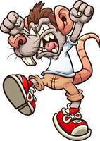 Angry rat boy vector