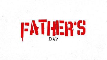 texte d'animation fête des pères sur fond blanc mode et minimalisme avec bruit dans le style 90 video