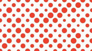 movimento de introdução de pontos vermelhos geométricos, fundo simples abstrato