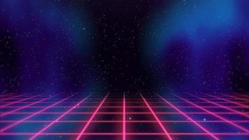 mouvement rétro lignes rouges dans l'espace, fond abstrait video