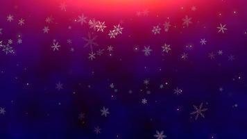 bokeh abstrato e floco de neve caindo. feliz ano novo e feliz natal fundo brilhante