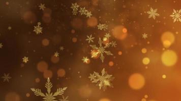 abstraktes Bokeh und Schneeflocke fallen. Frohes neues Jahr und frohe Weihnachten glänzenden Hintergrund