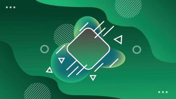 nuevo fondo geométrico verde abstracto vector