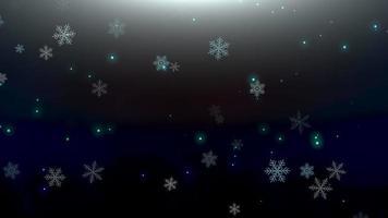 copos de nieve blancos, estrellas y partículas abstractas de bokeh cayendo video