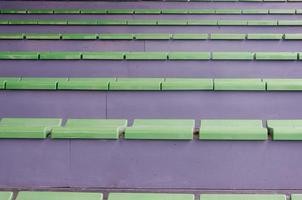 Green seats in a stadium photo