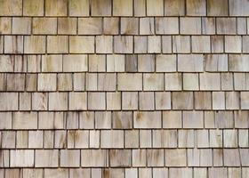 Wooden roof background photo