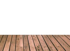 Wood plank isolated on white