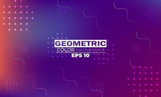 Colorful geometric background with gradient motion shapes composition. vector