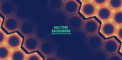 hexagon colorful halftone background vector illustration