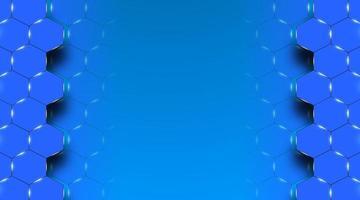 Ilustración de vector de fondo médico hexagonal azul abstracto